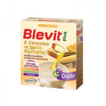 BLEVIT PLUS DUPLO 8 CEREALES BIZCOCHO Y NARAN