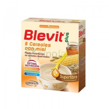 BLEVIT PLUS SUPERFIBRA 8 CEREALES Y MIEL  600