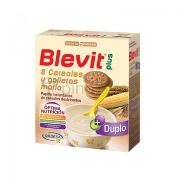BLEVIT PLUS 8 CEREALES Y GALLETAS  DUPLO 600