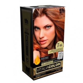 TH PHARMA VITALIA 7.46 SIN AMONIACO RUBIO MEDIO ACOBRADO ROJO 60 ML