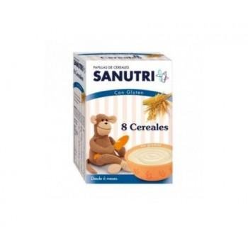 SANUTRI PAPILLA 8 CEREALES  600 G (300 G 2 BO