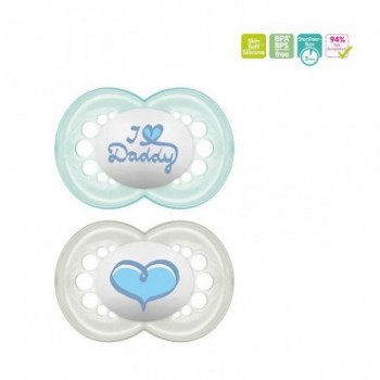 CHUPETE MINI SILICONA MAM 0- 6 M PACK DOBLE