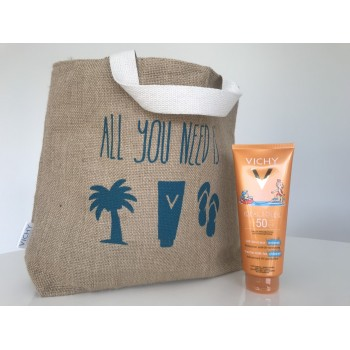 PACK IDEAL SOLEIL SPF 50+ PEDIATRICO Y BOLSO DE PLAYA