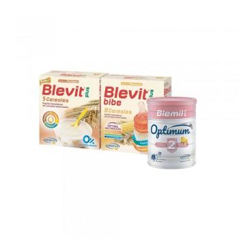 PACK BLEVIT 5+8 CEREALES BIBERON + BLEVIT OPTIMUM 2