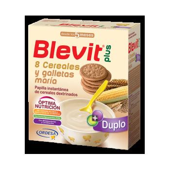 BLEVIT DUPLO 8 CEREALES CON GALLETA, 600G