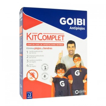 GOIBI ANTIPIOJOS KIT COMPLET (LOCIÓN, CHAMPÚ, LENDRERA, GORRO)