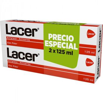 Lacer  pasta dentífrica antiplaca - anticaries con fluor envase duo (125 +...