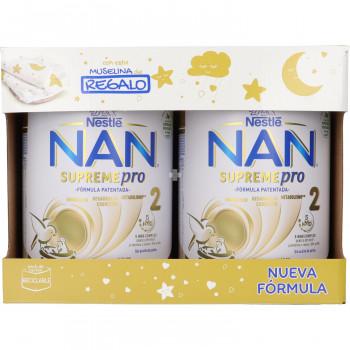 Nan Supreme Pro 2 Pack 800 g + Muselina de Regalo